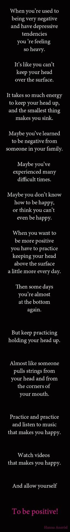 Quotes. Wise words. Be positive - let go of negativity. by LiveLoveLaughMyLife