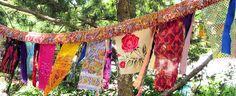 Glitzy Gypsy Celebration Flag Garland Hippie Prayer Flags Garden Flags 3 to 8 feet long Tassle Garland, Flag Garland, Bohemian Tapestry, Bohemian Gypsy, Gypsy Culture, Scrapbook Background, Hippie Baby, Moroccan Theme, Prayer Flags