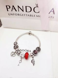 f4dc8321f58  239 Pandora Charm Bracelet Red White Brown. Hot Sale