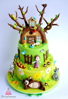 Masha and the bear cake - Cake by Nataša