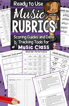 Music rubrics (or scoring guides) that are ready to use! This is a huge collection of assessment and data tracking tools for music class. Your students, parents and administrators will love the specific feedback that these rubrics give. Music Rubric, Music Education Lessons, Physical Education, Elementary Music Lessons, Elementary Schools, Music Activities, Music Games, Movement Activities, 6 Music