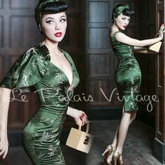 Le Palais Vintage Elegant Retro Bamboo Dress 3 Pieces Set - Designed by Winny in Clothing, Shoes & Accessories   eBay