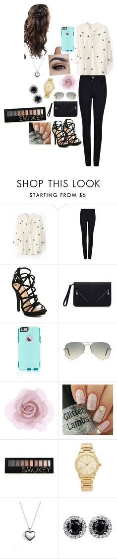 """""""New outfit #6"""" by bhartley ❤ liked on Polyvore featuring Armani Jeans, OtterBox, Ray-Ban, Accessorize, Forever 21, Michael Kors, Pandora, women's clothing, women and female"""