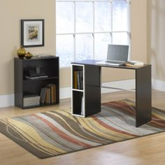 """Computer Desk & Bookcase Combo - Cocoa Oak Finish by TDM. $119.98. Features Desk features cubbyhole storage. Rear crossbars added for rigidity. Bookcase features adjustable shelf. Cocoa Oak Finish. Desk W:39 1/2"""" (100.3cm) D:15 1/2"""" (39.4cm) H:28 1/2"""" (72.4cm)  Bookcase W:24"""" (61.0cm) D:11 1/2"""" (29.2cm) H:28 1/2"""" (72.4cm). Comes ready to assemble."""