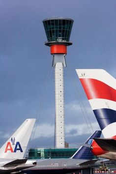 ATC tower at Heathrow. Airport Control Tower, Golf Hotel, Air Traffic Control, Aviation Industry, Heathrow Airport, Commercial Aircraft, British Airways, Asia Travel, London