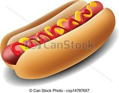 Vector - Realistic hot dog - stock illustration, royalty free illustrations, stock clip art icon, stock clipart icons, logo, line art, EPS picture, pictures, graphic, graphics, drawing, drawings, vector image, artwork, EPS vector art