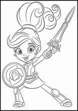Fargelegge Nella the Princess Girl Birthday Themes, Birthday Parties, Nella The Princess Knight, Nick Jr, Printable Stickers, Asd, Chibi, Alice, Party Ideas