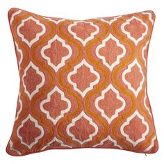 Moroccan Crewel Pillow Cover – Fire
