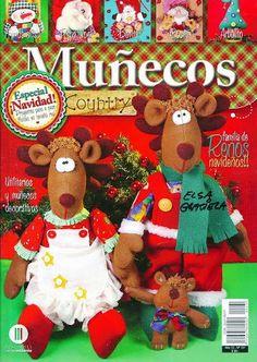 MUÑECOS COUNTRY No. - Alandaluz Lopez M. - Álbumes web de Picasa Christmas Books, Christmas Crafts, Christmas Ornaments, Book Crafts, Crafts To Make, Craft Books, Sewing Magazines, Elsa, Cross Stitch Books