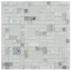 SomerTile 12x12-in Reflections Versailles Ming Glass/Stone Mosaic Tile (Pack of 10)   Overstock.com