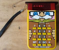 holy moly... i had forgotten about this: Vintage Electronic 1976 Texas Instruments Little Professor Math Learning Toy