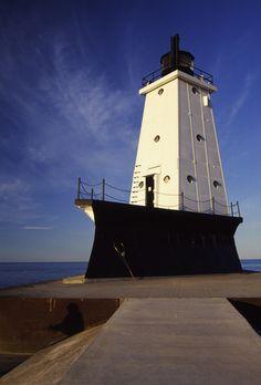 Ludington Lighthouse  Lake Michigan