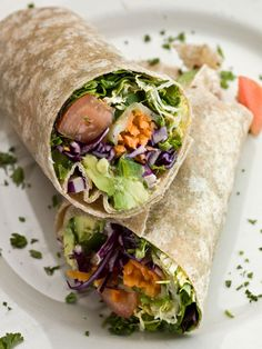 Teriyaki Chickpea Salad Wrap #glutenfree