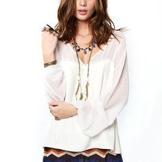 Sweetheart Top Ivory, $59, now featured on Fab.