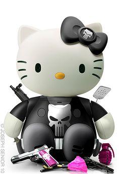 hallo_kitty_punisher – Hello Kitty is bad azz – Halss Hello Kitty Art, Hello Kitty Items, Little Twin Stars, Sanrio, Keroppi, Hello Kitty Imagenes, Hello Kitty Characters, Hello Kitty Pictures, Kitty Images