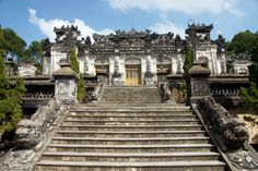 Vietnam, Tomb Of Emperor Khai Dinh Of Nguyen Dynasty Emperor, Hue, Vietnam, Temple, Stock Photos, Mansions, House Styles, Manor Houses, Temples