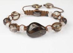 """""""Настоящая Я"""" Амулет для привлечения счастливых отношений и понимания своих истинных потребностей и желаний. #Раухтопаз, розовый кварц, #чароит, черный #обсидиан Amulets, Beaded Bracelets, Jewelry, Jewlery, Jewerly, Pearl Bracelets, Schmuck, Jewels, Jewelery"""