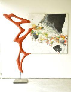 Work by sculptor Morgan Robinson and painter Jim Polan