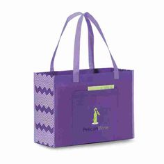 d1560cc7002 Chevron Non-Woven Shopper Reusable Tote Bags, Shopper Tote, Chevron  Patterns, Retail