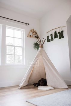 Camping Theme Room Teepees 41 New Ideas Toddler Teepee, Baby Teepee, Teepee Nursery, Teepee Kids, Nursery Room, Teepee Tent, Camping Nursery, Camping Room, Teepees