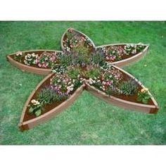 Star raised garden bed
