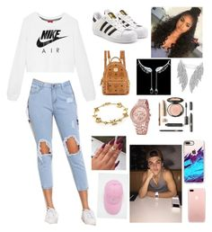 """""""Date with Ethan Dolan"""" by margaritamiha on Polyvore featuring NIKE, adidas Originals, MCM, Louis Vuitton, Apple and Casetify"""