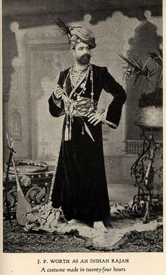 Jean-Philippe Worth in Indian Rajah costume