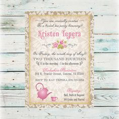 DESCRIPTION:  Planning the perfect bridal shower for your best friend or sister, these unique, do-it-yourself vintage Lace Tea Party Bridal Shower