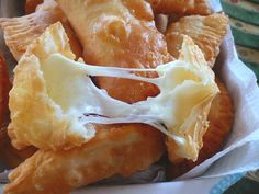 "Cheese Empanadas - they got my attention with the magical words ""gooey cheese"""