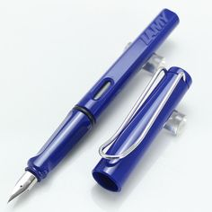 Lamy Safari Deep Blue Color Fountain Pen + Roller Ball Pen  for choose
