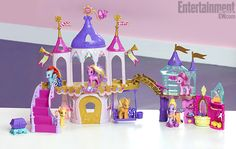 Up coming MLP:FiM toy castle (at right.) can be attached to other MLP castle. Comes with Alicorn Twilight Sparkle. ($25)