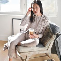 There's no place like home for the holidays, and Anh from @9to5chic spends her quiet time at home in our new Cozy Nights™ pajamas. #regram