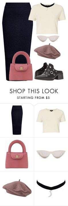 """""""Untitled #2631"""" by rowan-asha ❤ liked on Polyvore featuring Kenzo, ThePerfext, Sol Sana, Chanel, CÉLINE and Nümph"""