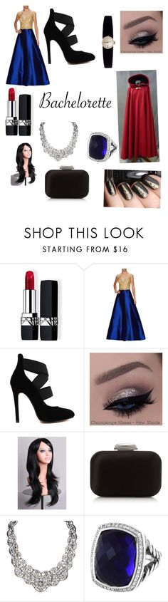 """""""Untitled #98"""" by lightningalexa ❤ liked on Polyvore featuring Christian Dior, Reem Acra, Jimmy Choo, David Yurman and Rolex"""
