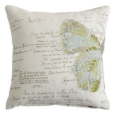 Spring Meadow Split Butterfly Pillow Natural
