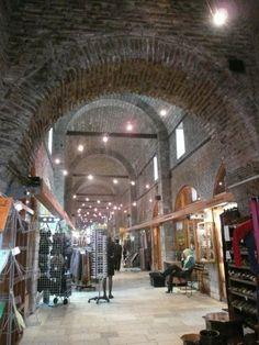 Bazaar Bezistan, Sarajevo, Bosnia and Herzegovina. Shops offer many kinds of products: jewelry, clothing, technical items, books, antiques, etc. (V)