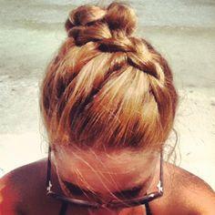 #Beach #Hair #Style #Highlight #Long #Blonde #Curls #Braid