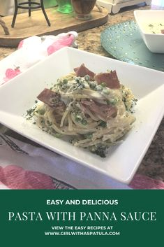 Pasta with Panna Sauce isn't that hard to make. With just a few simple ingredients, you too can make this alfredo cream sauce to put over spaghetti, penne or linguini pasta. #alfredo sauce #kidapproved #dinner #valentines Pasta Alfredo, Alfredo Sauce, Butter Pasta, Cold Pasta, Homemade Marinara, Recipe Please, Budget Meals, Penne, Tasty Dishes