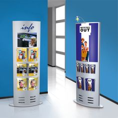 Infosäule large, 185 x 77cm -  für DIN A4 Formate, DIN A5 und DIN-lang (Faltprospekte).