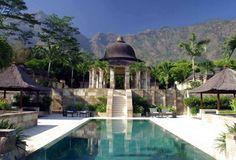 Amanjiwo luxury hotel very close to Borobudur Temple  in Yogyakarta, Indonesia