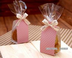 Polka dot Cake&Cookie bag set Cellophane Bags Cookies Wrappers