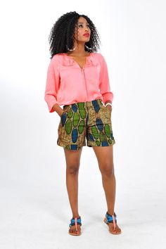 African Print Shorts by Bongolicious1 on Etsy, $39.99