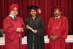 Dr. Sweta Velineni receiving certificate of  Diploma in Minimal Access Surgery at World Laparoscopy Hospital. For more detail please log on to www.laparoscopyhospital.com