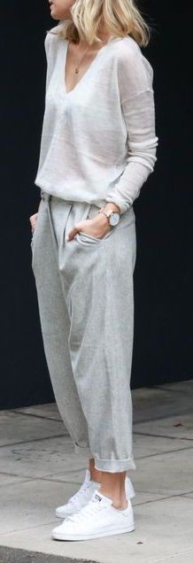 #fall #fashion / all gray