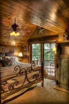 Best home bedroom cozy cabin ideas Style At Home, Log Cabin Homes, Log Cabins, Cabins And Cottages, Cozy Cabin, Home Bedroom, Bedroom Ideas, Master Bedroom, Bedroom Furniture