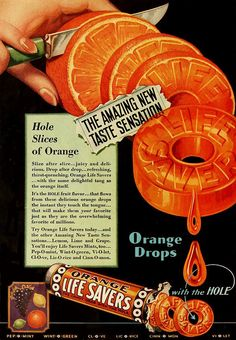 Life Savers remain a firm favourite. Creative Advertising, Retro Advertising, Retro Ads, Pub Vintage, Vintage Candy, Vintage Labels, Vintage Food, Retro Recipes, Vintage Recipes