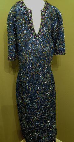 Beautiful Vintage 1960s Sequin Dress by VintageFromYearsAgo