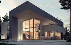 Zx127 jest projektem wywierającym ogromne wrażenie na każdym, kto gustuje w stylu modern. Ogromnym atutem domu jest antresola z dużymi, pionowymi przeszkleniami, dzięki którym wnętrze jest dobrze oświetlone. Wejście do domu zadaszono podcieniem, który chroni przed wiatrem, deszczem i śniegiem.