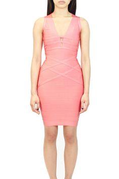 Mesh Back Bandage Dress  oakandstate.com