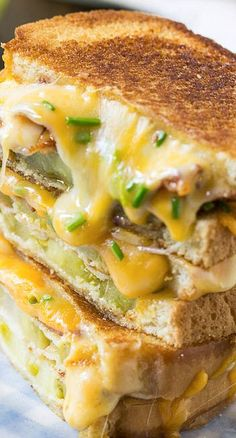 Fried Green Tomato and Bacon Grilled Cheese Recipe